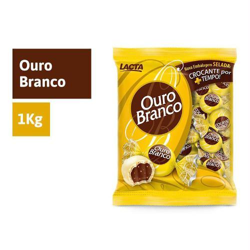 Bombom LACTA Ouro Branco pacote 1kg