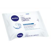 Lenço para Limpeza Facial NIVEA Visage para Todos os Tipos de Pele 3 em 1 com 25 Unidades