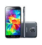 Smartphone SAMSUNG Galaxy S5 Duos 4G Preto Android 4.4 Memória Interna 16GB Câmera 16MP Quad Core 2.5GHz 5.1
