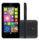 Smartphone NOKIA Lumia 630 Preto Windows phone 8.1 Memória Interna 8GB Câmera 5MP Quad Core 1.2GHz 4.5