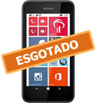 Smartphone NOKIA Lumia 530 Preto Windows Phone 8.1 Memória Interna 4GB Câmera 5MP Quad Core 1.2GHz 4