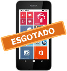 Smartphone NOKIA Lumia 530 Branco Windows Phone 8.1 Memória Interna 4GB Câmera 5MP Quad Core 1.2GHz 4