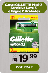 Carga GILLETTE Mach3 Sensitive Leve 3 e Pague 2 Unidades