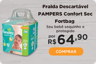 Fralda PAMPERS Confort Sec Fortbag