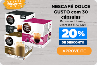 Dolce Gusto com 20% OFF